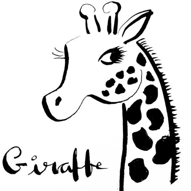 inktober giraffe handlettering handmade doodle illustrator blackandwhite calligraphy sketch sketchbookhellip