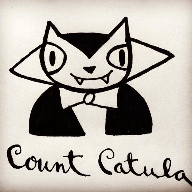 Count Catula inktober countcatula ink doodle markeraddict handlettering markers pentelhellip